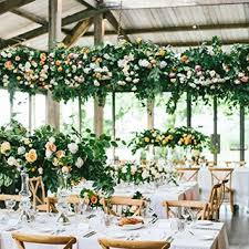 wedding flowers greenery floral and greenery chandeliers brides