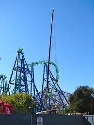 Six Flags Magic Mountain Deja Vu Removal Begins At Six Flags Magic Mountain The Coaster Guy