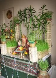 Home Ganpati Decoration Ecobappa