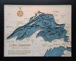 Lake Maps Mn Lake Superior The 3d Map Company