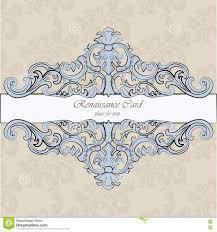 invitation card with renaissance royal ornaments stock vector