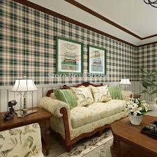 country style scottish plaid wallpapers vintage pure paper wall