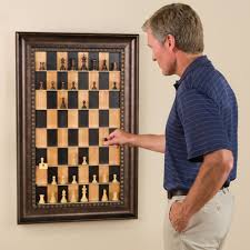 the vertical chess set hammacher schlemmer