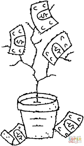 money tree coloring free printable coloring pages