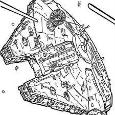 millenium falcon star wars coloring millenium falcon
