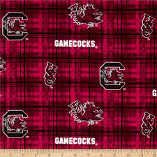 collegiate cotton broadcloth university of south carolina plaid
