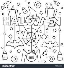 halloween coloring page vector illustration stock vector 723149209