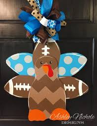 turkey door hanger sports collection ashleynichole designs
