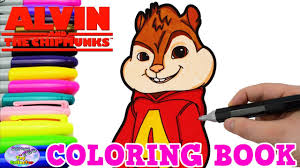 alvin chipmunks coloring book alvin nick jr colors