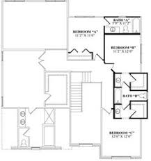 Floor Plan For Small Bathroom Jack And Jill Bathroom Floor Plan With Shower And A Separate Area
