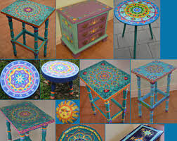 painted furniture hand painted table painted furniture boho style
