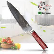 haoye 8 inch chef knife japanese vg10 damascus steel multipurpose