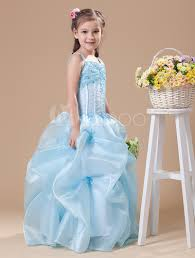 toddler u0027s pageant dress pastel blue floor length applique ball