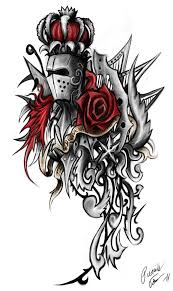awesome crown helmet and rose tattoo designs for boys picsmine