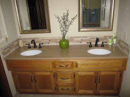 Refinishing Bathroom Fixtures Master Bath Vanity With Granite Rubbed Bronze Faucets