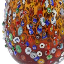 murano glass vases murano millefiori mosaic blooming flower vase