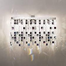 Prisma Lighting Kolarz Prisma Chrome Wall Light With Clear And Violet Crystals