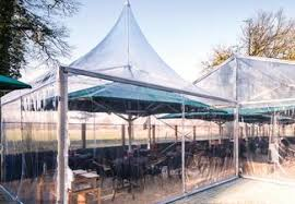 Transparent Tent Haltent High Quality Tarpaulins For Event Tents Made In Germany