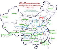 Kunming China Map by Sichuan Tibet Maps