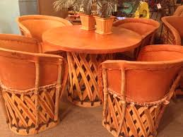 Mexican Dining Room Furniture by Vintage Mexican Equipale Leather And Wood Dining Table And Chairs