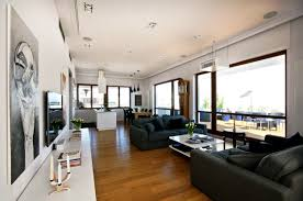 fabulous black and white interior penthouse design part of