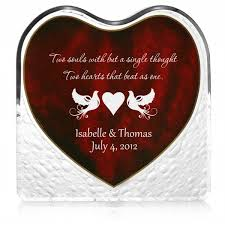 personalized s day gifts doves acrylic heart with inlaid rosewood finish