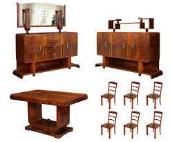 italian art deco design dining room suite by osvaldo borsani
