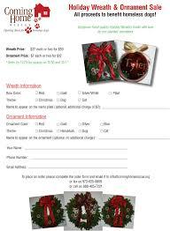 wreath ornaments cominghomerescue