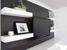 Tv Wall Shelves by Recessed Tv Floating Shelves And Built In U0027s Matching The Wall