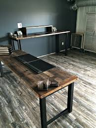 Home Office Wood Desk Reclaimed Wood Office Furniture Planinar Info