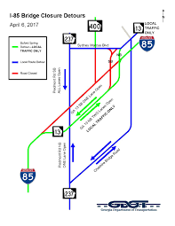 Marta Route Map by I 85 Roadway Closure