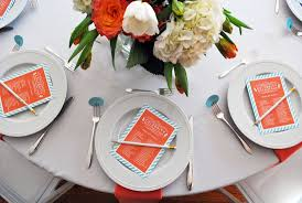 baby shower table settings a chic baby shower in aqua and coral the little umbrella