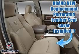 2010 dodge ram seat covers 2009 2010 dodge ram 1500 laramie passenger side bottom leather