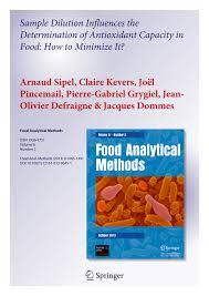 id s d oration cuisine sle dilution influences the pdf available