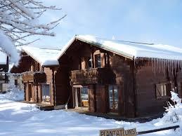 chalet 6 chambres les heureux véritable chalet en bois avec grande pièce à vivre et