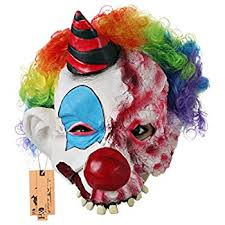 amazon com scary clown mask halloween party costume decorations