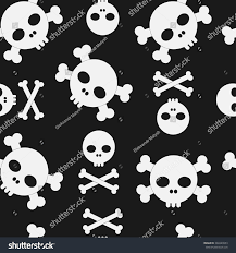 free halloween background texture skull crossbones seamless pattern halloween background stock