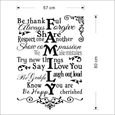 aliexpress com buy 57x80cm removable family words quote wall