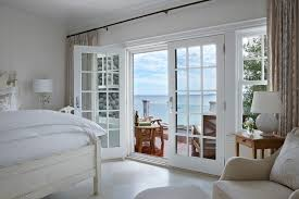 Curtain Rods French Doors French Door Curtains Bedroom Traditional With Yellow Walls Inside
