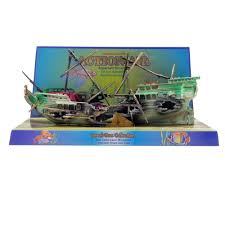 penn plax split shipwreck aquarium ornament aquar