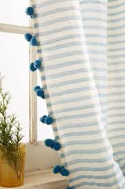 Best Fabrics For Curtains by Curtain Pom Curtains With Tassel Trim Aqua For Superb Best House