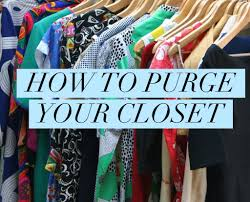 how to purge your closet on task organizing
