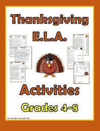 thanksgiving ela activities by kelli lovingfoss tpt