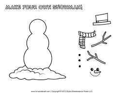 build your own snowman coloring page shimosoku biz