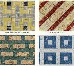 30 patterns for vinyl floor tiles from the 1950s retro renovation