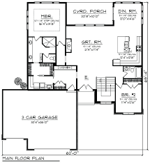 3 bedroom floor plans with garage 3 garage house plans fascinating contemporary floor plans for 3