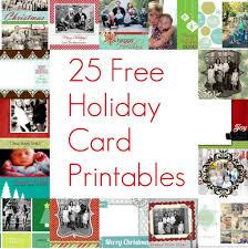 free christmas card templates insert photo template idea