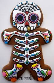 Decorated Halloween Sugar Cookies by Day Of The Dead Gingerbread Man Things That Make Me Smile