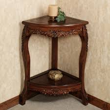 corner accent table wooden accent table with classic cherry finish
