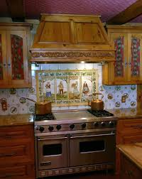 painting kitchen tile backsplash awesome hand painted kitchen backsplash tiles khetkrong